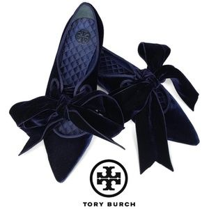 Tory Burch Carla bow pointed toe ballet flats 7.5